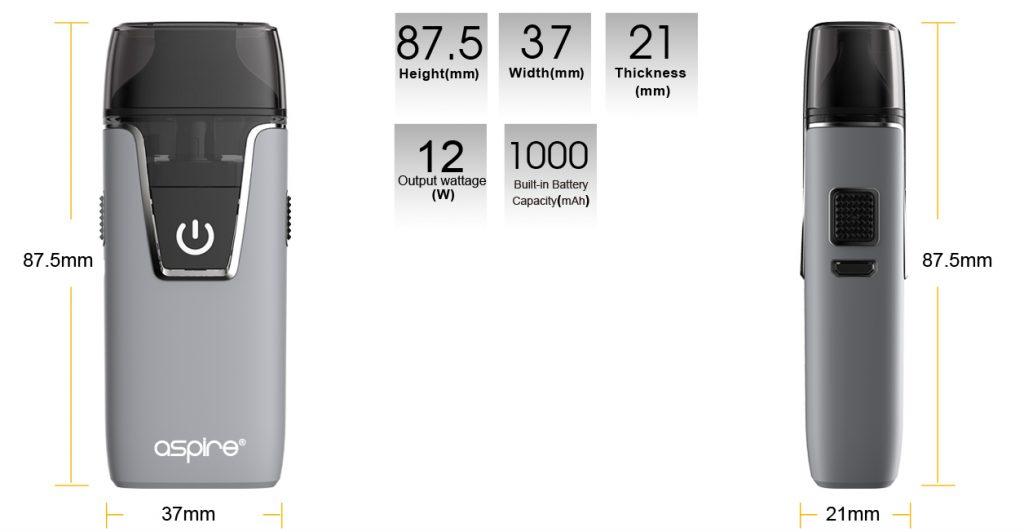 تقييم جهاز أسباير نوتيلوس AIO Aspire Nautilus AIO Kit - الحجم والوزن والبطارية