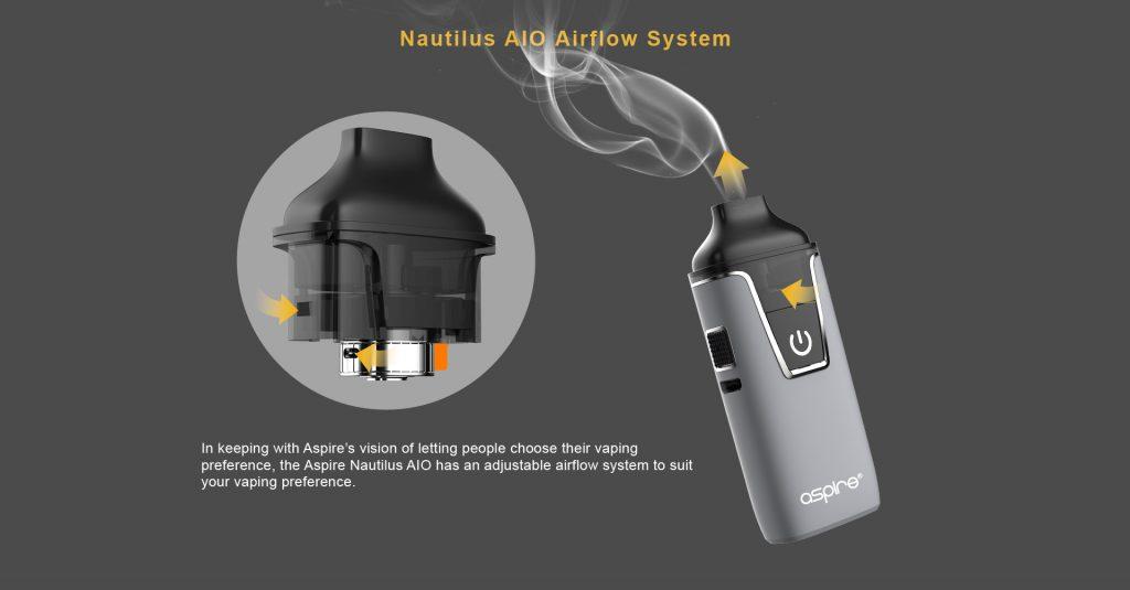 تقييم جهاز أسباير نوتيلوس AIO Aspire Nautilus AIO Kit - نظام تدفق الهواء