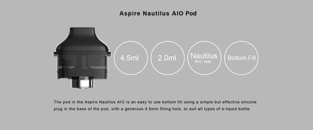 تقييم جهاز أسباير نوتيلوس AIO Aspire Nautilus AIO Kit - البود / التانك