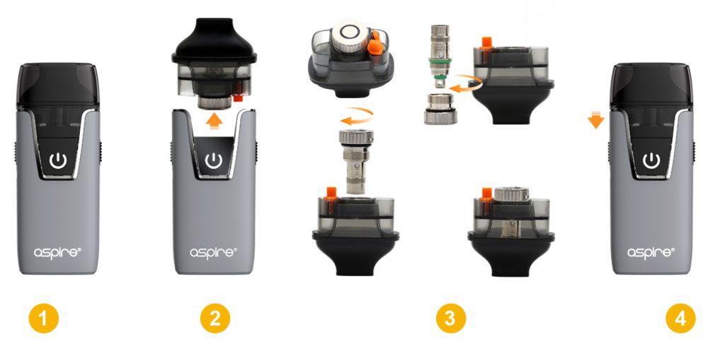 تقييم جهاز أسباير نوتيلوس AIO Aspire Nautilus AIO Kit - الإستخدام
