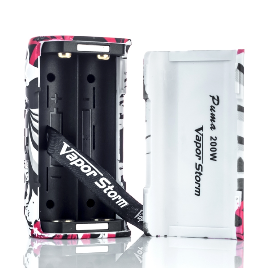 Vapor Storm PUMA 200W TC Box Mod Review - Battery, Power and Charging