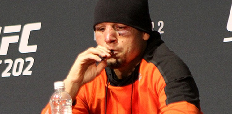 Top 50 Celebrities who vape - Nate-Diaz