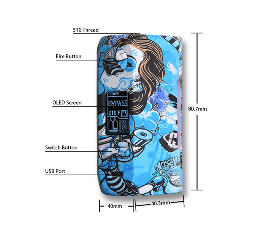 Vapor Storm PUMA 200W TC Box Mod Review - Size and Weight