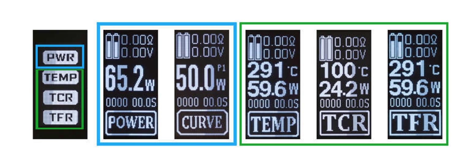 Mod Setting VV-VW-TC-Bypass Mode