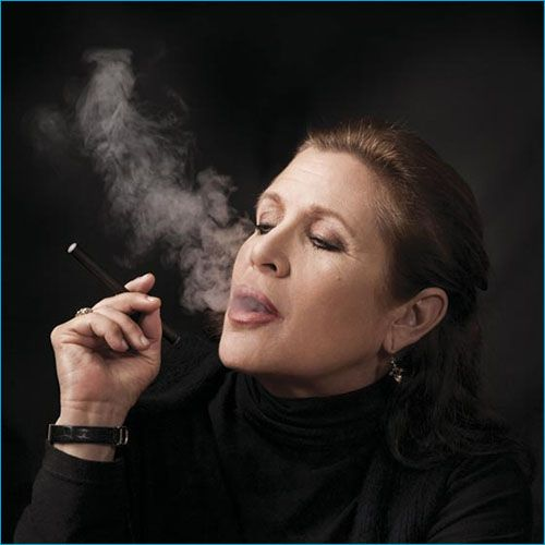 Top 50 Celebrities who vape - carrie fisher
