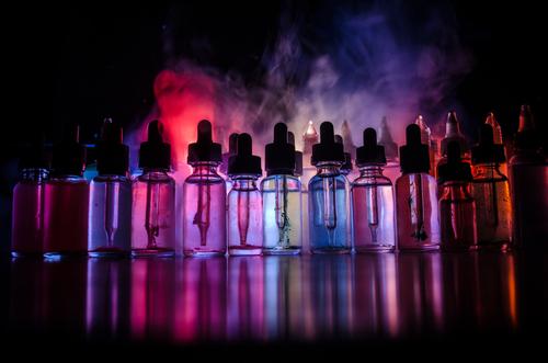 E-liquid bottles
